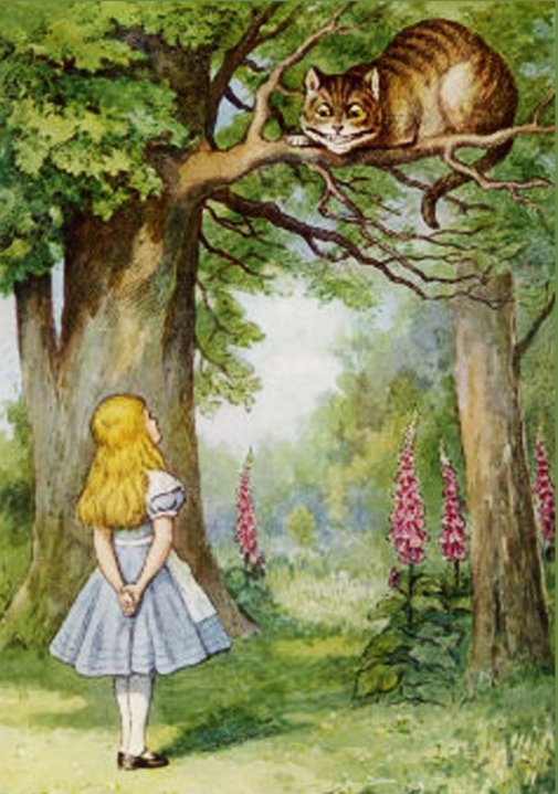 Cheshire Cat with Alice